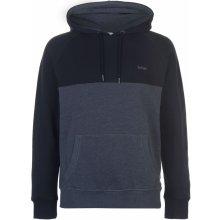 Lee Cooper Cut and Sew OTH Hoody Mens Charcoal Blk 54656e600c4