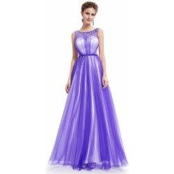 Dlouhé společenské luxusní plesové šaty na ples L189 bílá fialová ... 6738c5840e0