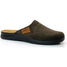 INBLU BG000021 dark brown, pánská domácí obuv