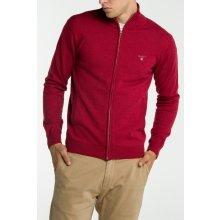 Gant Pánský svetr COTTON WOOL ZIP CARDIGAN červená