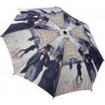 Blooming Brollies Skládací plně automatický deštník Galleria Caillebottes Paris Street Rainy Day GAFRD