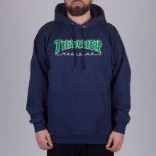 Thrasher Outlined Hood Navy Green e3256dd32c