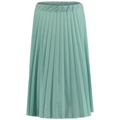Hailys dámská plisovaná midi sukně s puntíkem Leah mint