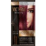 Victoria Beauty Keratin Therapy Tónovací šampón na vlasy V 45, Dark Cherry, 4-8 umytí