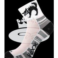 VoXX Ralf X cyklistické ponožky bílá / černá
