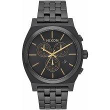 Nixon Time Teller Chrono - All Black/Gold