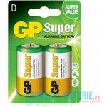 Baterie GP Super D 2ks