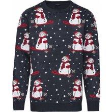 LIVERGY® Pánský vánoční svetr sněhuláci   navy modrá a01bf5a57b