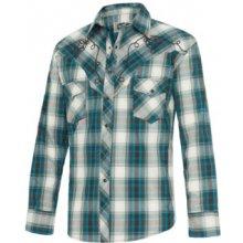2377731bc58 Stars and Stripes Pánská westernová košile Jeff Blue