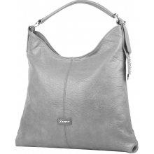 0623836b7b moderní velká kombinovaná dámská kabelka 3753-DE šedá