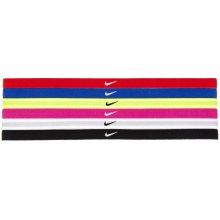 Nike Swoosh Sport Headbands Čelenky 2.0 se silikonem 6 ks ČERNÁ VÍCE BAREV