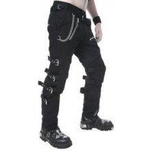 Gotické kalhoty pánské dlouhé se zipy a přezkami