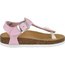 Scholl BOA VISTA KID dětské zdravotní pantofle s páskem růžové