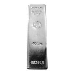 Heraeus 5000g Německo Investiční stříbrný slitek