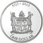 Taku Stříbrná investiční mince Fiji Hawksbill Turtle Kareta pravá 1 Oz