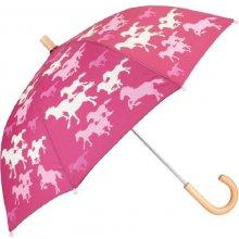 Hatley Dívčí deštník s koníky růžový
