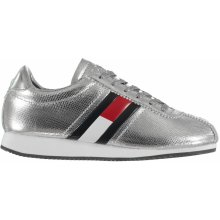 Tommy Hilfiger Retro Low Run Trainers Silver 711935 c316d57d94b