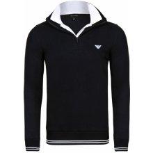 Emporio Armani luxusní svetr na zip od Černý