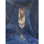 Karel Rut Sázavka Sklenice na šampaňské flétna Pískované 190 ml