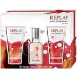 Replay Your Fragrance for Her EdT 20 ml + sprchový gél 50 ml + deodorant 50 ml dárková sada