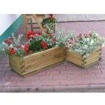 Dekorativní obdélníkový květináč malý WOOD R02701