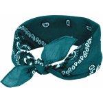 69e7b1923b4 Čtvercový šátek do vlasů pin-up tyrkysový 53cm   53cm BANDANA 4D2-121383