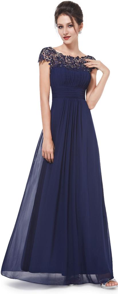 Plesové šaty Ever-Pretty krajkové šaty EP09993NB námořnicky modrá ... 98a8c478827