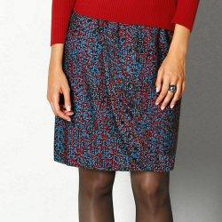 Blancheporte dámská zavinovací sukně s potiskem modrá červená od 380 ... f6255f008a
