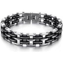 Troli náramek pánský ocelový ocelovo-černý TO0778