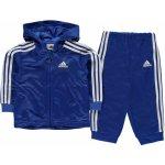 adidas Shiny Full Zip Hoody Tracksuit Baby Blue White 8e04a2e29d