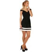 9d3e9d3e5b1 Krátké plesové šaty s kontrastním lemem 182078 černá