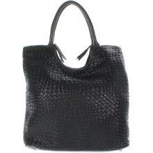 Another bag What Else Plaited shopper černý