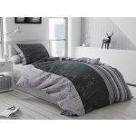 Písecké lůžkoviny bavlna povlečení Bezkvět šedý 70x90 140x200