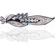 Fashion Icon Spona do vlasů List s krystaly SV0036-24 91b184b271
