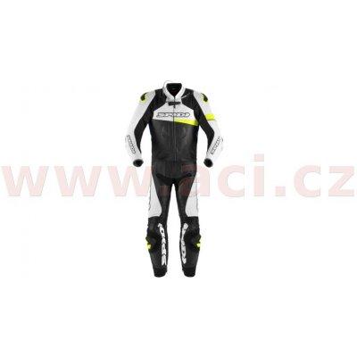 Dvoudílná kombinéza Spidi Race Warrior Touring černá/bílá/žlutá/modrá