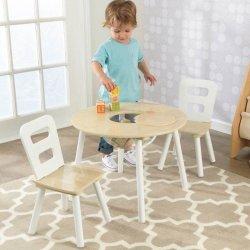 7056c5bec6df KidKraft Dřevěný set stůl s 2 židle přírodní a bílá dětské stoly a ...