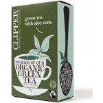 Clipper Fair Trade a BIO Zelený čaj s aloe vera 20 sáčků