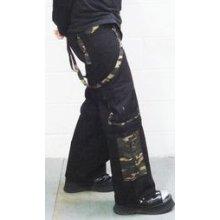 Metalové kalhoty pánské dlouhé maskáčové zelené