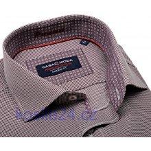 Casa Moda Modern Fit Premium Luxusní košile s vínově červenou mozaikou s vnitřním  límcem 4511bd8cab
