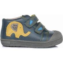 1dba9bd32c79 Ponte 20 Chlapecké kožené boty se slonem - modré