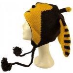 Sanu Babu Čepice s ušima dětská včelka žluto hnědá 8846d39231