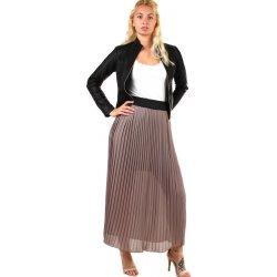 2971d92ac652 TopMode dlouhá plisovaná sukně skládaná hnědá od 749 Kč - Heureka.cz