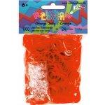RAINBOW LOOM Original gumičky 600 kusov transparentné oranžová