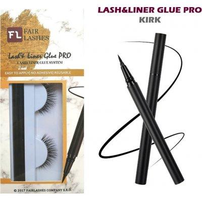 Fair Lashes Nalepovací řasy s linkovačem Lash&Liner Glue Pro Kirk balení 1 ks