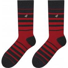 ae13dc285ac pánské pruhované ponožky Monday červené