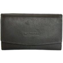 Kožená peněženka orientovaná jako oboustranná černá