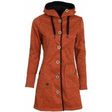 Woox Kabát dámský Woolshell Ladies' Button oranžová