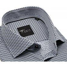 Venti Slim Fit – košile s šedo-černým vzorem a vnitřním límcem - extra  prodloužený 47293c9b7d