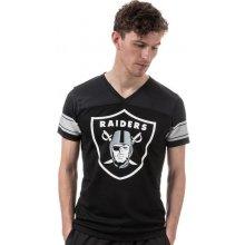 New Era Mens Oakland Raiders Supporters T Shirt Black