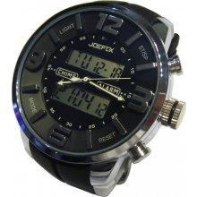 Carneo Man Fashion Clock Silver Bolt